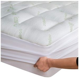 Bamboo Mattress Topper Cover With 1 Pillow Case